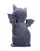 Occult Cat Figurine With Bat Wings 24cm
