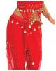 Exotisches Bauchtänzerin Kostüm mit Münzen rot