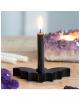 Schwarzer Fledermaus Kerzenhalter