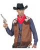 Cowboy Weste Wildleder-Look