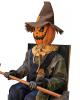 Grinning Pumpkin Scarecrow Halloween Animatronic