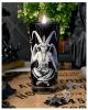Schwarze Kerze im Baphomet Glas KILLSTAR