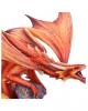 Orangeroter Feuerdrache Dekofigur