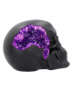 Geode Skull With Violet Gothic Glitter