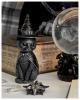 Mystische Katzenfigur mit Hexenhut