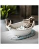 Skelett Figur in Badewanne