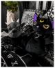 Violet Dämonia Katzen Rucksack aus Plüsch