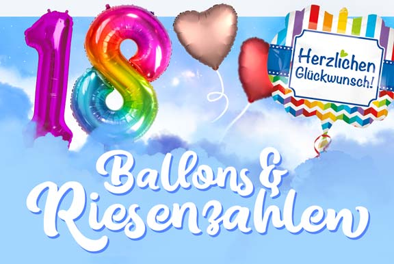 Heliumballons & Riesenzahlen