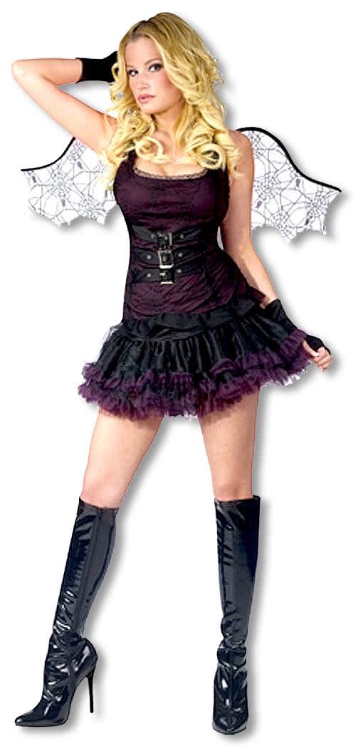 spinnen fledermauskost m sexy halloween kost m f r frauen karneval universe. Black Bedroom Furniture Sets. Home Design Ideas