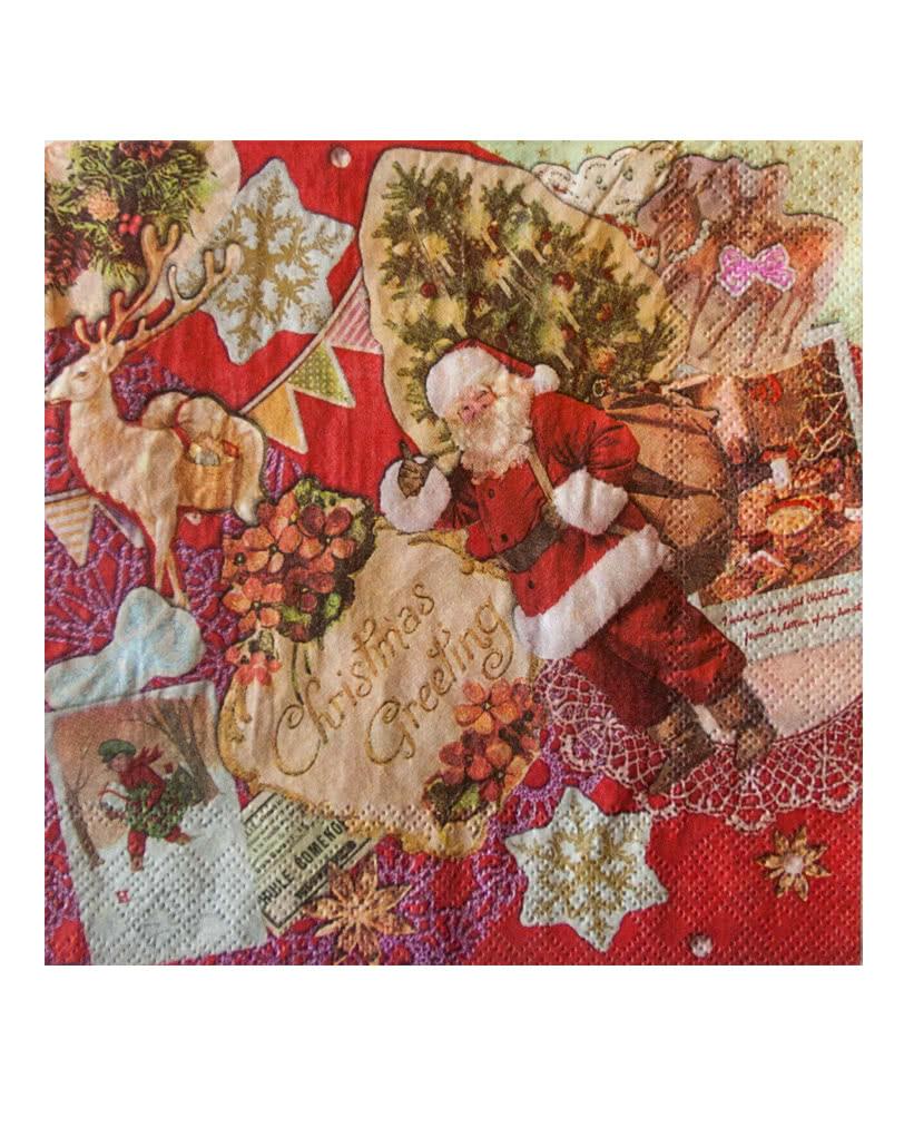 vintage weihnachtsservietten weihnachtszubeh r im retro stil karneval universe. Black Bedroom Furniture Sets. Home Design Ideas