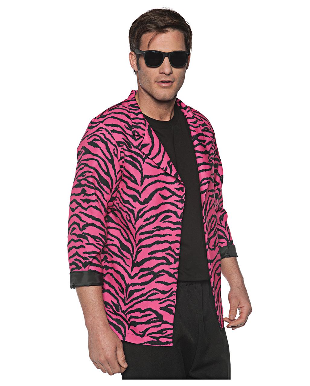 80er zebra jacke pink f r karneval karneval universe. Black Bedroom Furniture Sets. Home Design Ideas