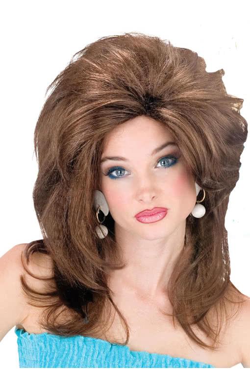 amerikanische hausfrauen per cke dunkelbraun usa look momma wig karneval universe. Black Bedroom Furniture Sets. Home Design Ideas