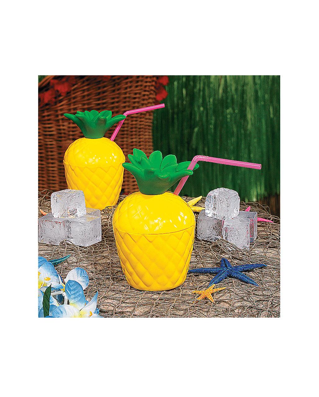 cocktail becher ananas mit deckel kaufen karneval universe. Black Bedroom Furniture Sets. Home Design Ideas