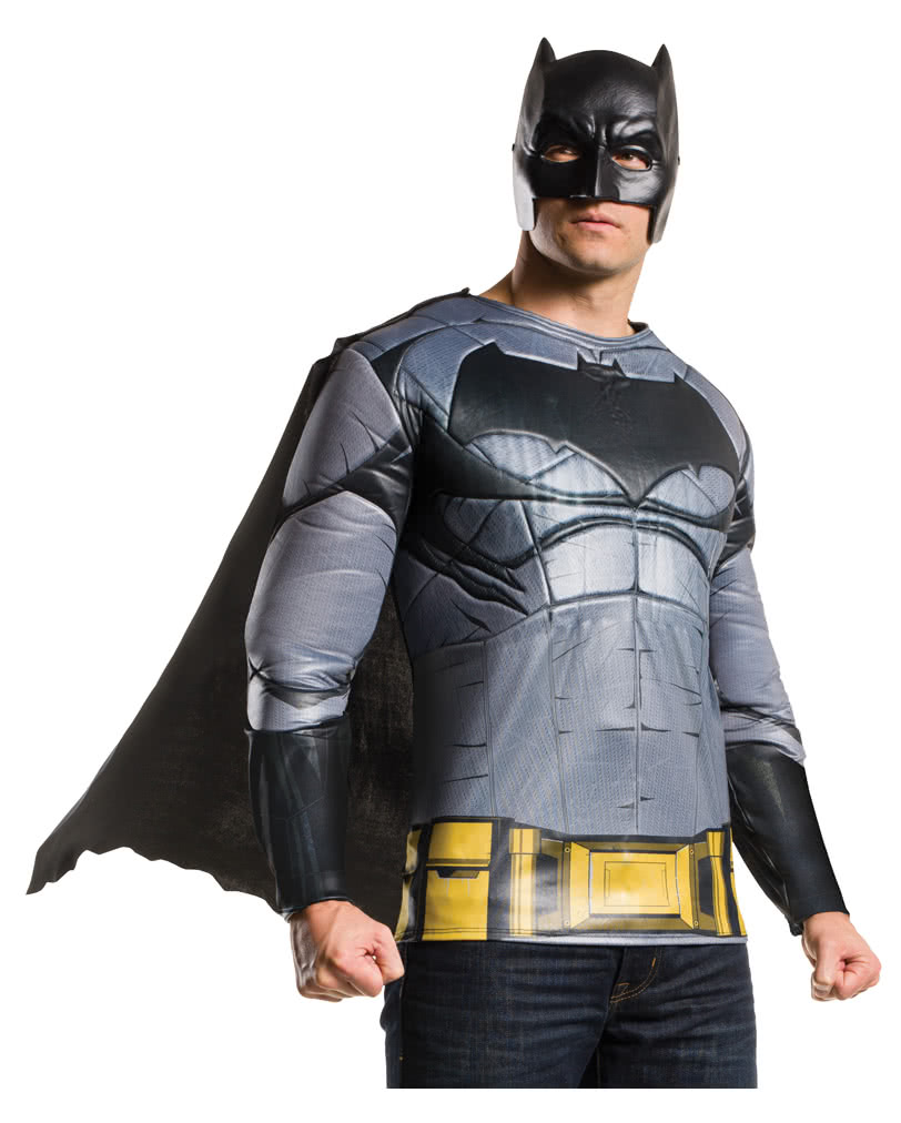 batman muskel kost m shirt mit maske cape batman kost me kaufen karneval universe. Black Bedroom Furniture Sets. Home Design Ideas