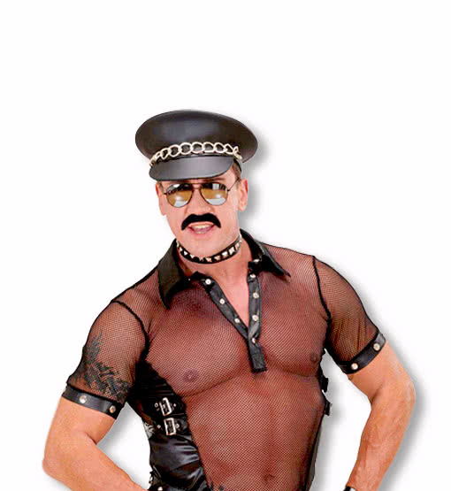 Rocker Biker Leder Handschuhe Fasching Karneval Kostüm Village People