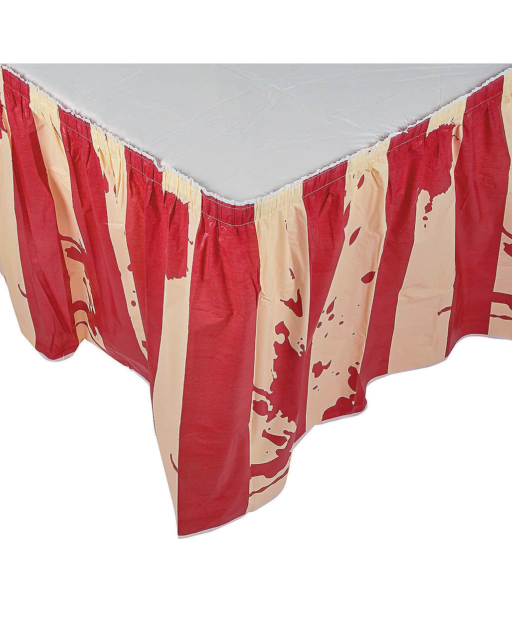 Halloween zirkus tischrock blutige tischdeko karneval for Zirkus dekoration