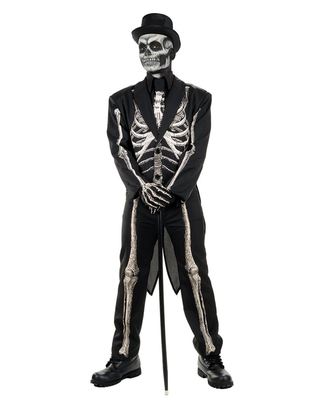 skelett frack kost m anzug f r halloween karneval universe. Black Bedroom Furniture Sets. Home Design Ideas