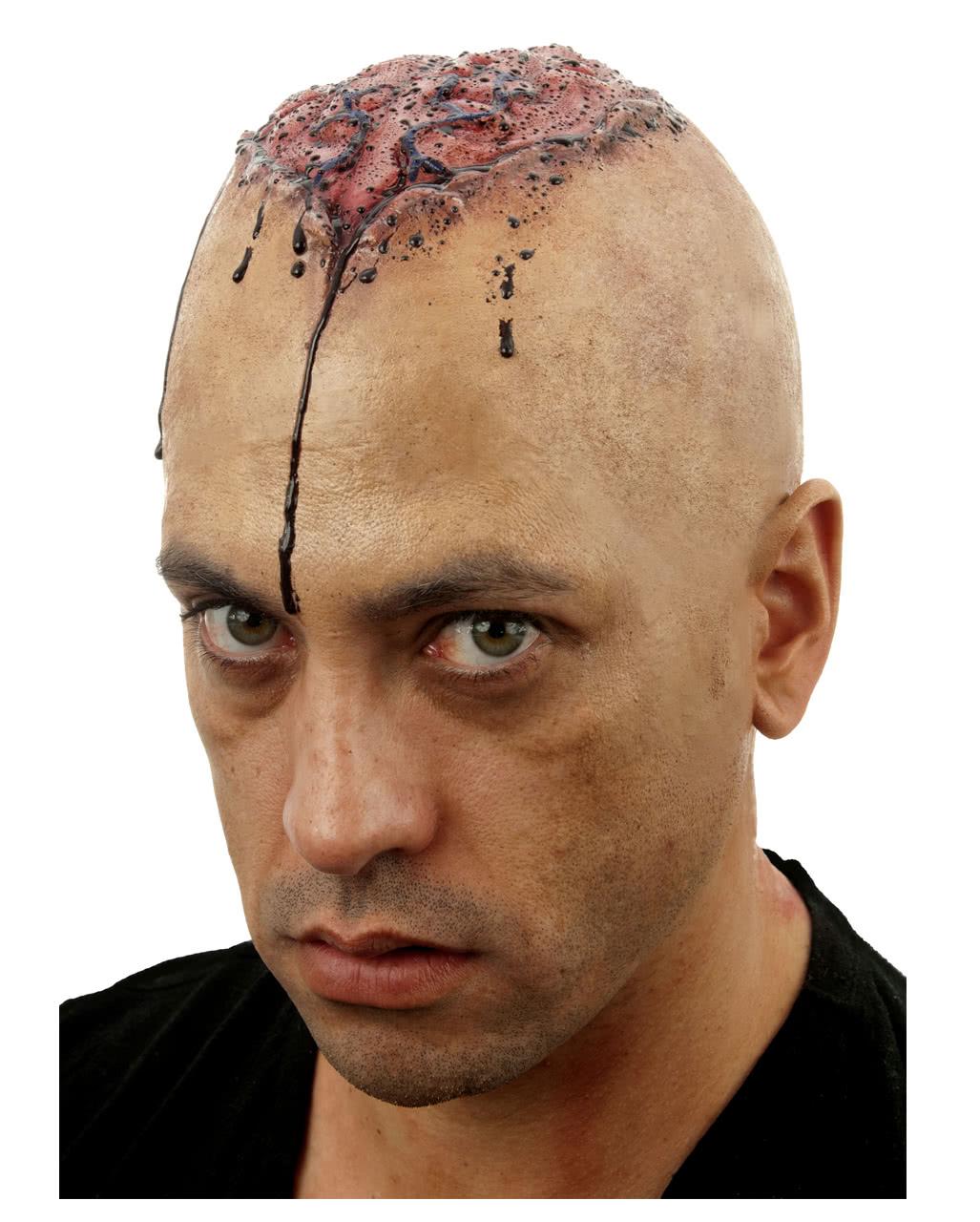 Braindead Gehirn Glatzenfolie Zombie Makeup Selber Schminken
