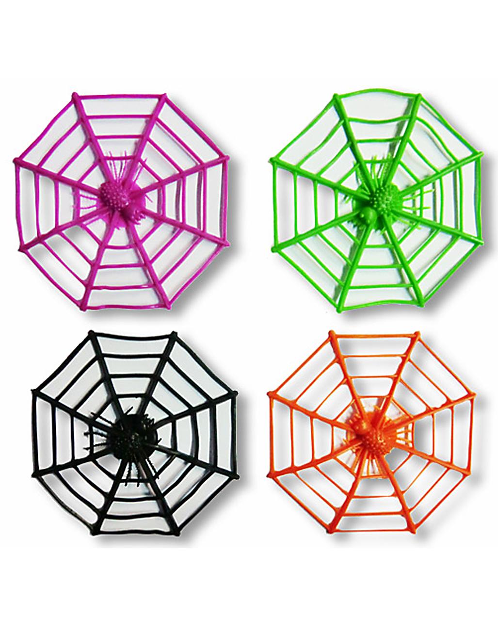 bunte spinnennetze 12 st ck spinnennetze g nstig kaufen karneval universe. Black Bedroom Furniture Sets. Home Design Ideas