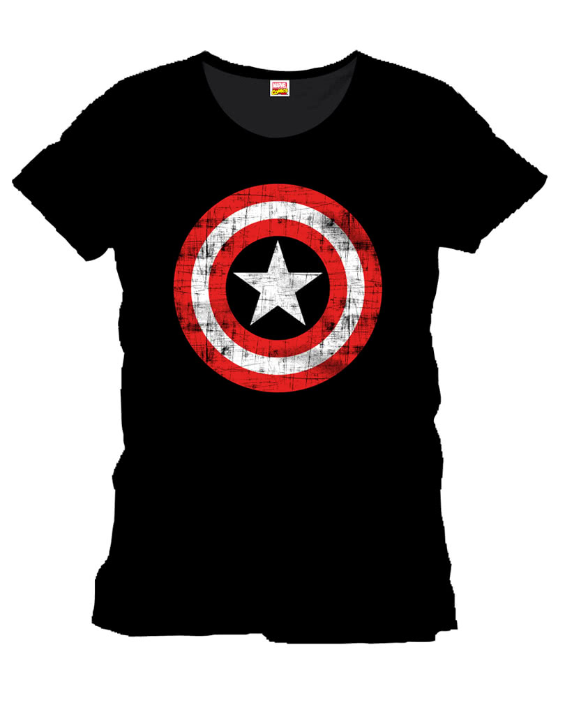 captain america frauen t shirt the shield als. Black Bedroom Furniture Sets. Home Design Ideas