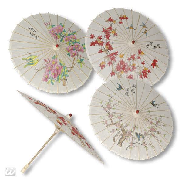 chinesischer sonnenschirm wei er asiatischer sonnenschirm mit muster karneval universe. Black Bedroom Furniture Sets. Home Design Ideas