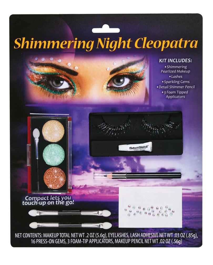 Kleopatra Schmink Set Mit Wimpern 11 Teiliges Cleopatra Make Up