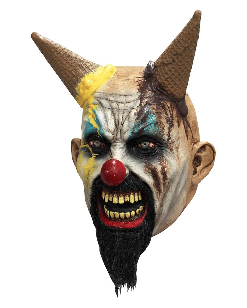 clown horror maske eiscreme halloween maske karneval. Black Bedroom Furniture Sets. Home Design Ideas