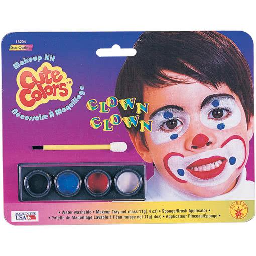 Kinder Schminke Clown Kindgerechte Faschingsschminke Fur Kleine