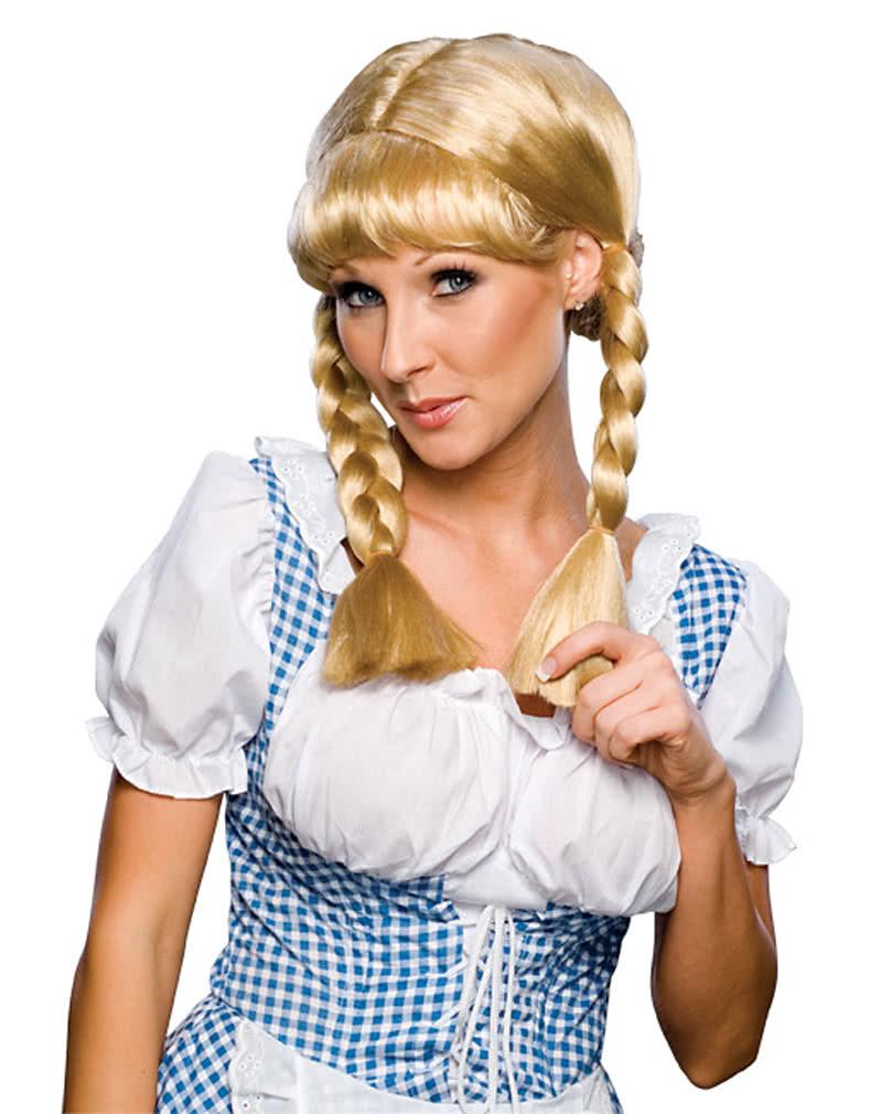 Blonde Cowgirl Zopfperucke
