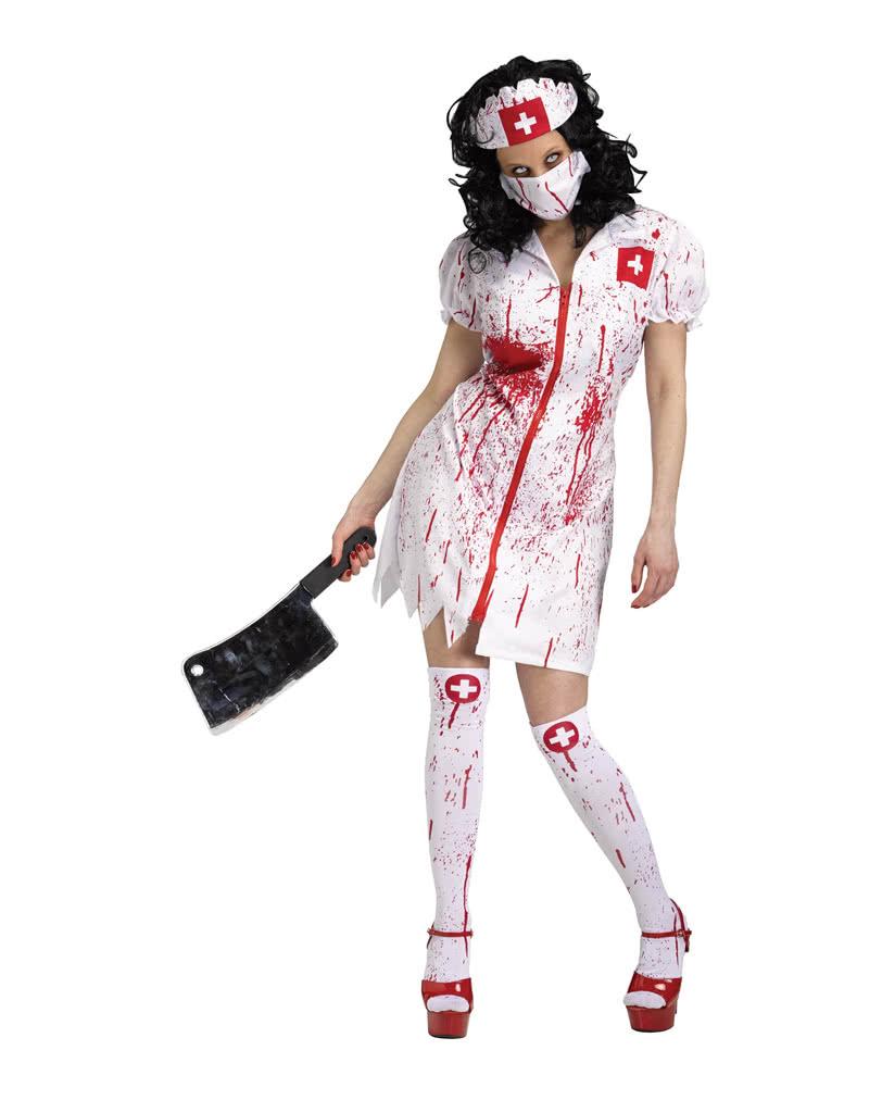 Infizierte Zombie Krankenschwester Kostum Blutiges Zombie Kostum