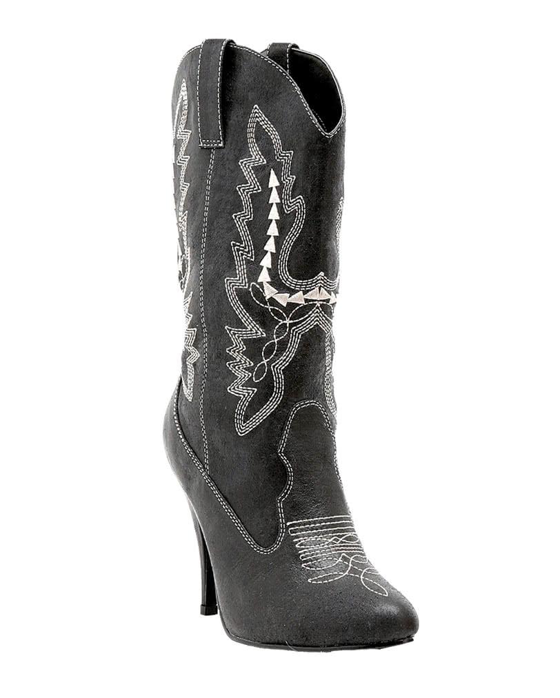schwarze damen cowboy stiefel f r die wild west mottoparty karneval universe. Black Bedroom Furniture Sets. Home Design Ideas