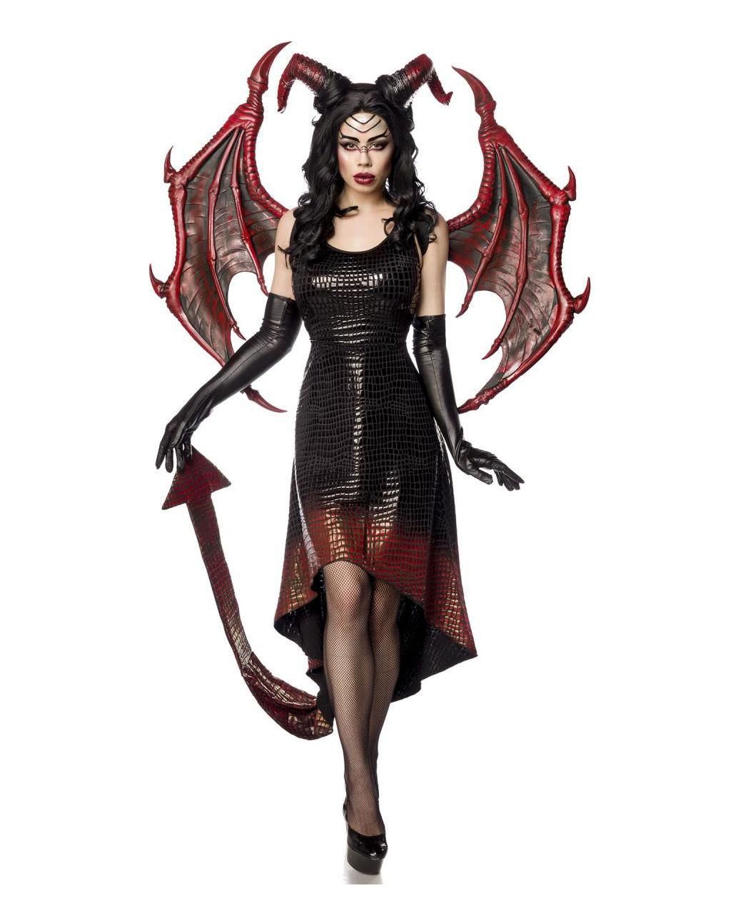Drachen Lady Kostum Mit Flugeln Fur Fantasy Partys Karneval