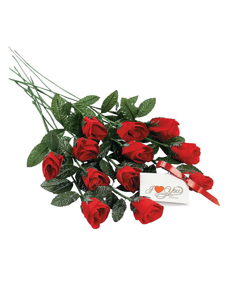 duftende rosen 12er pack blumige valentinstagsdekoration. Black Bedroom Furniture Sets. Home Design Ideas