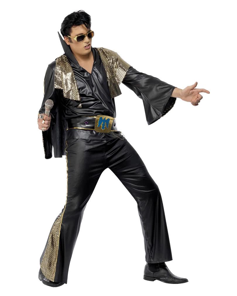 bc327c149c75c Elvis Kostüm Schwarz/Gold