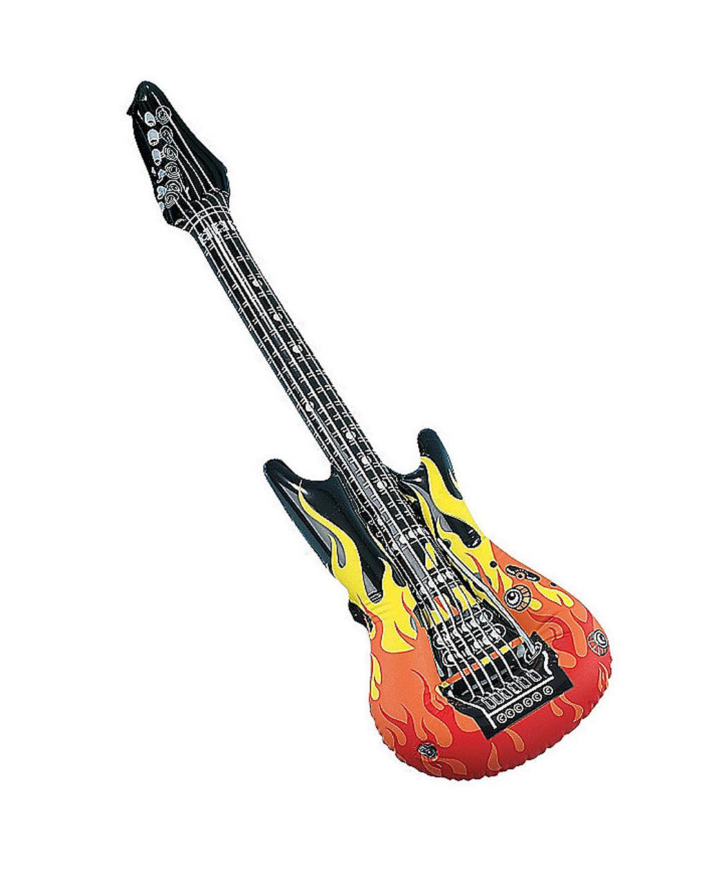 Aufblasbare Luftgitarre Luft Gitarre E Gitarre Instrument zum Aufpusten Karaoke
