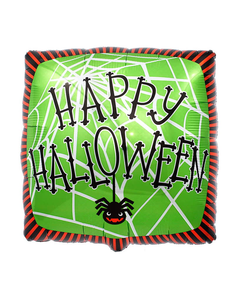happy halloween folienballon spinnennetz folienballons g nstig online kaufen karneval universe. Black Bedroom Furniture Sets. Home Design Ideas
