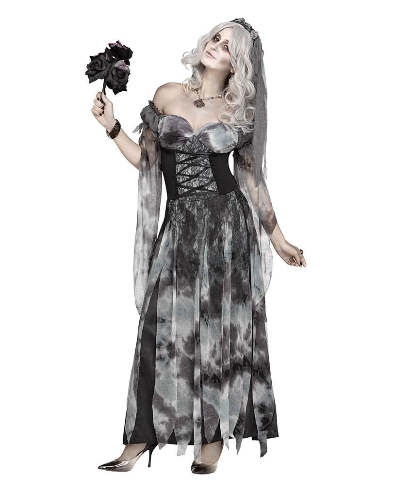 halloween brautkleid kost m mit schleier schicke. Black Bedroom Furniture Sets. Home Design Ideas