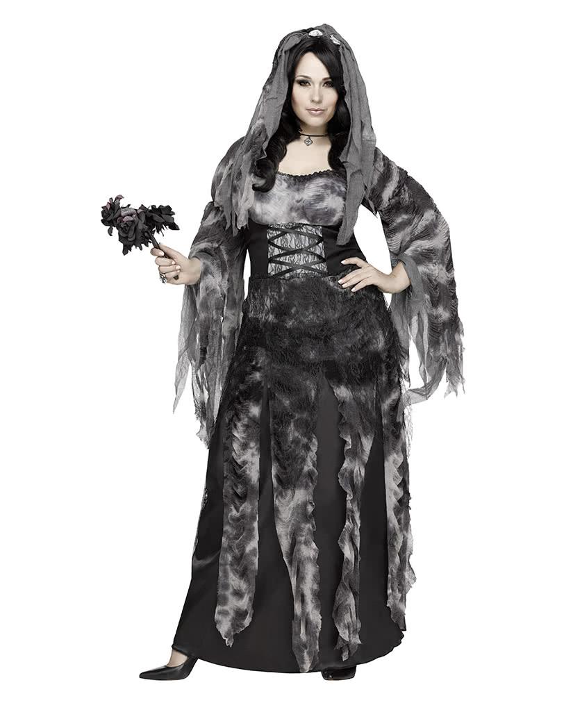 halloween plus size brautkleid kost m mit schleier schicke halloween kleider in xl karneval. Black Bedroom Furniture Sets. Home Design Ideas