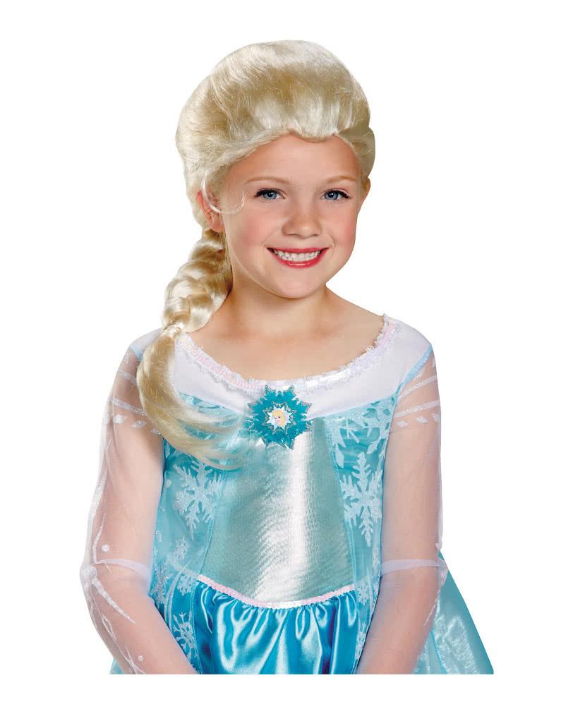 Blonde Frozen Elsa Kinderperucke Lizenzierte Perucke Aus Die