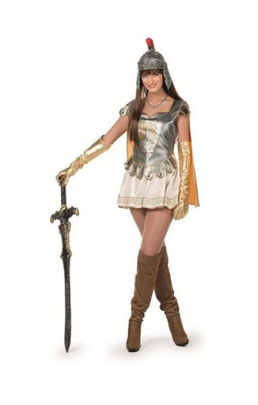 sexy gladiatorin kost m spartanerin minikleid f r frauen zu fasching karneval universe. Black Bedroom Furniture Sets. Home Design Ideas