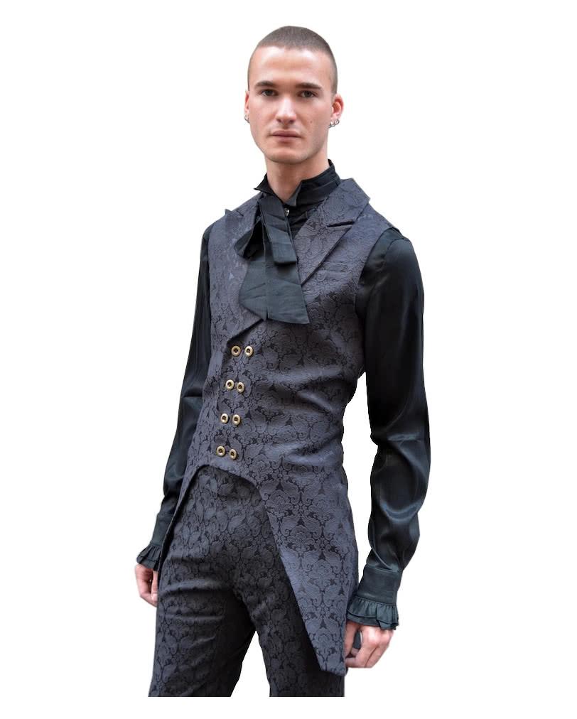 brokat m nner weste schwarz xl steampunk gothicbekleidung online kaufen karneval universe. Black Bedroom Furniture Sets. Home Design Ideas
