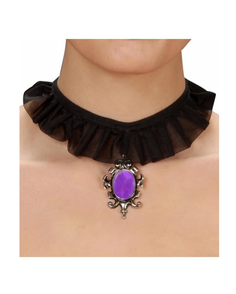 gothic halsband mit lila schmuckstein biedermeier kost me scmuck karneval universe. Black Bedroom Furniture Sets. Home Design Ideas