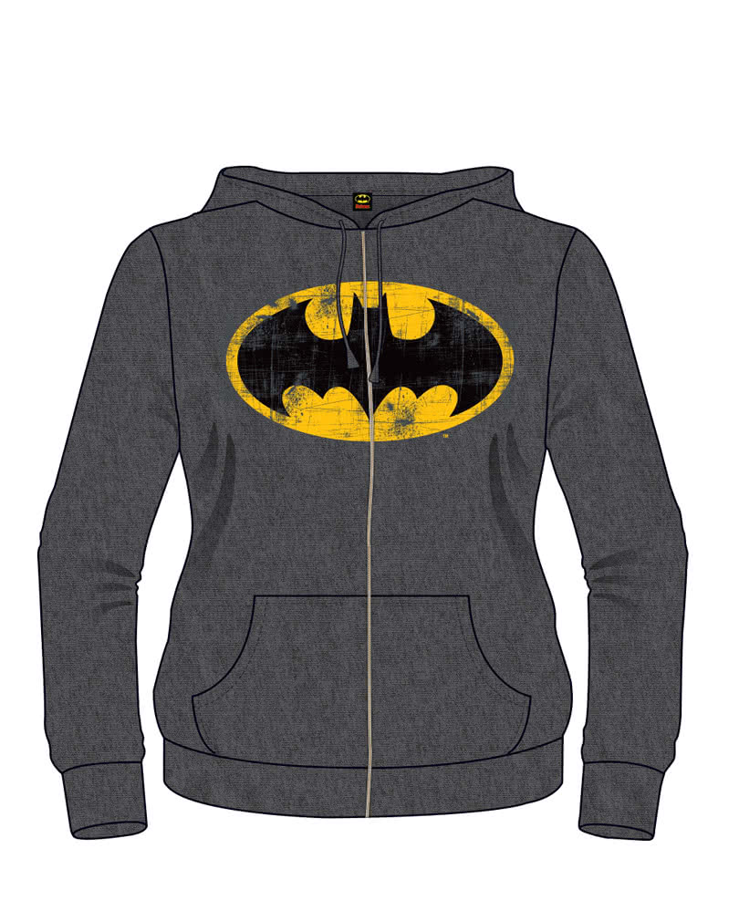 batman retro logo hoodie grau batman vintage. Black Bedroom Furniture Sets. Home Design Ideas