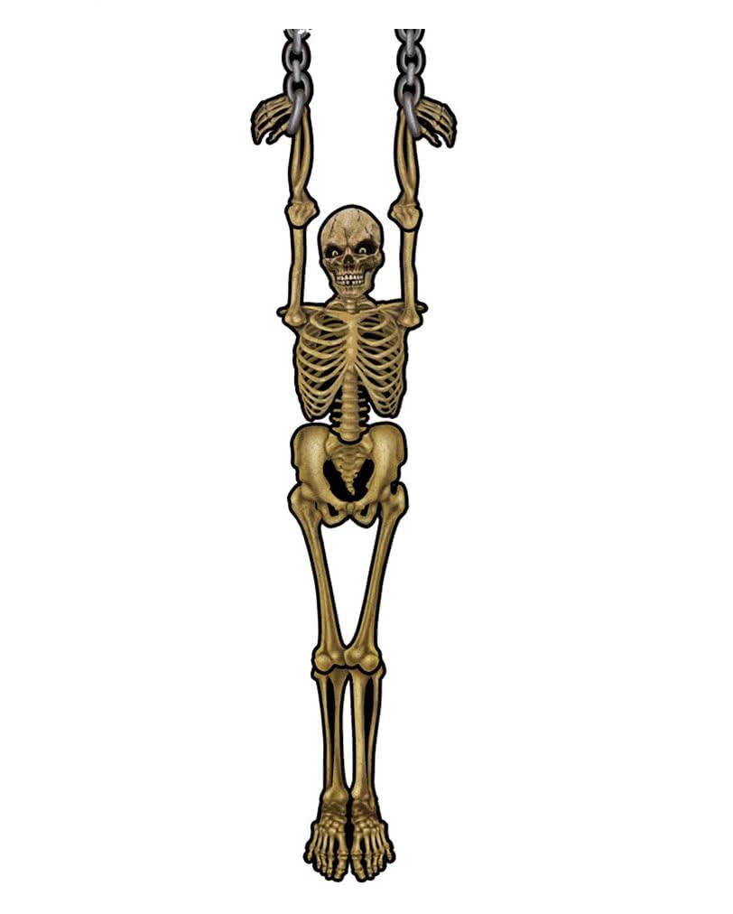 skelett h nge deko als horro deko f r wand decke. Black Bedroom Furniture Sets. Home Design Ideas