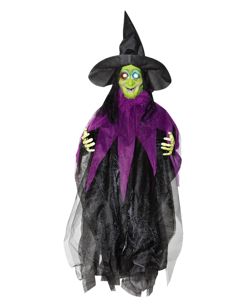 Gruselige Hexe Mit Leuchtaugen 87 Cm Als Deko Karneval