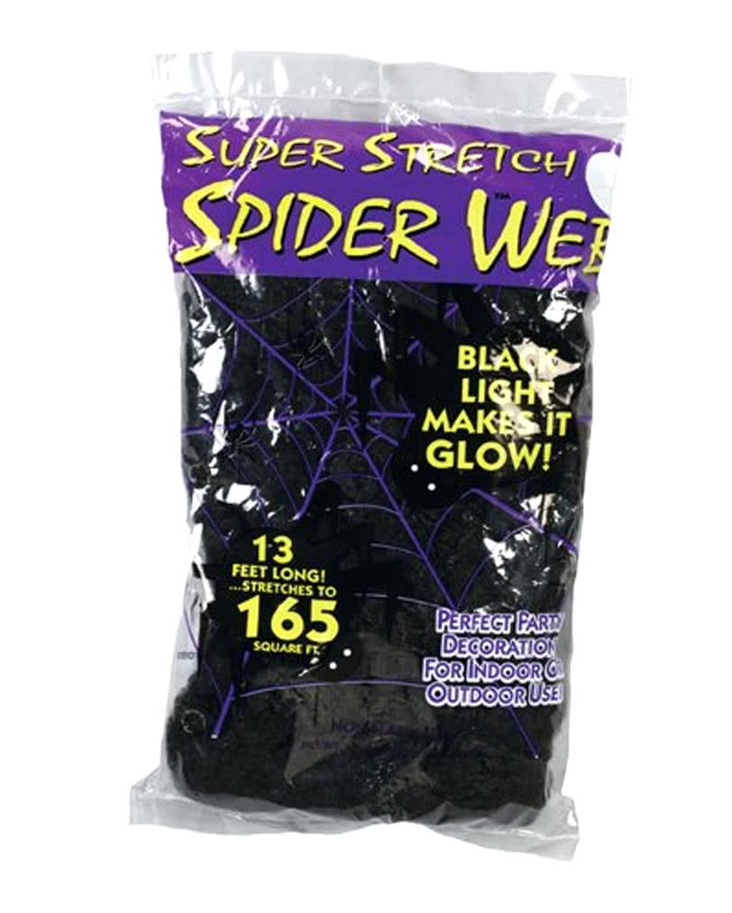halloween spinnennetz schwarz 50g schwarze spinnweben als halloween deko karneval universe. Black Bedroom Furniture Sets. Home Design Ideas