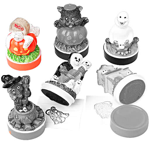halloween stempel k rbis mumie stempel f r kinder mit. Black Bedroom Furniture Sets. Home Design Ideas