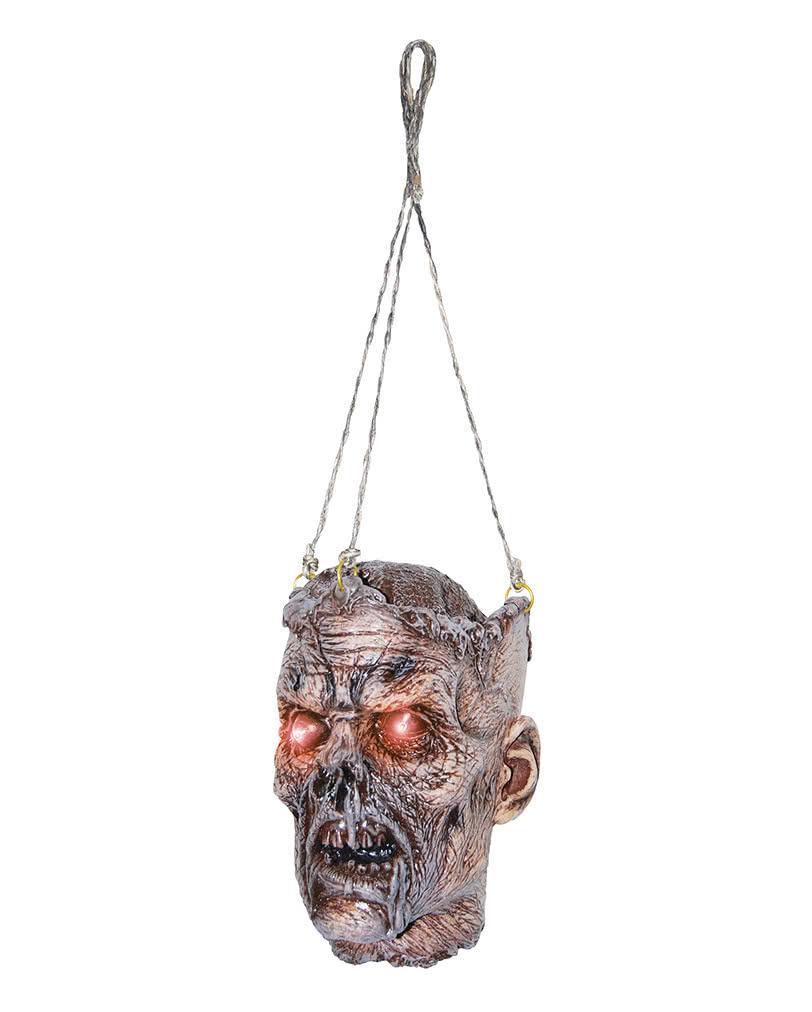Zombie Schadel Mit Led Augen Als Halloween Deko Karneval Universe