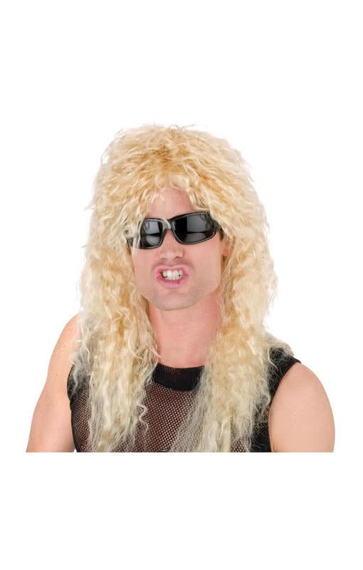 heavy metal per cke blond mosher look headbanger. Black Bedroom Furniture Sets. Home Design Ideas
