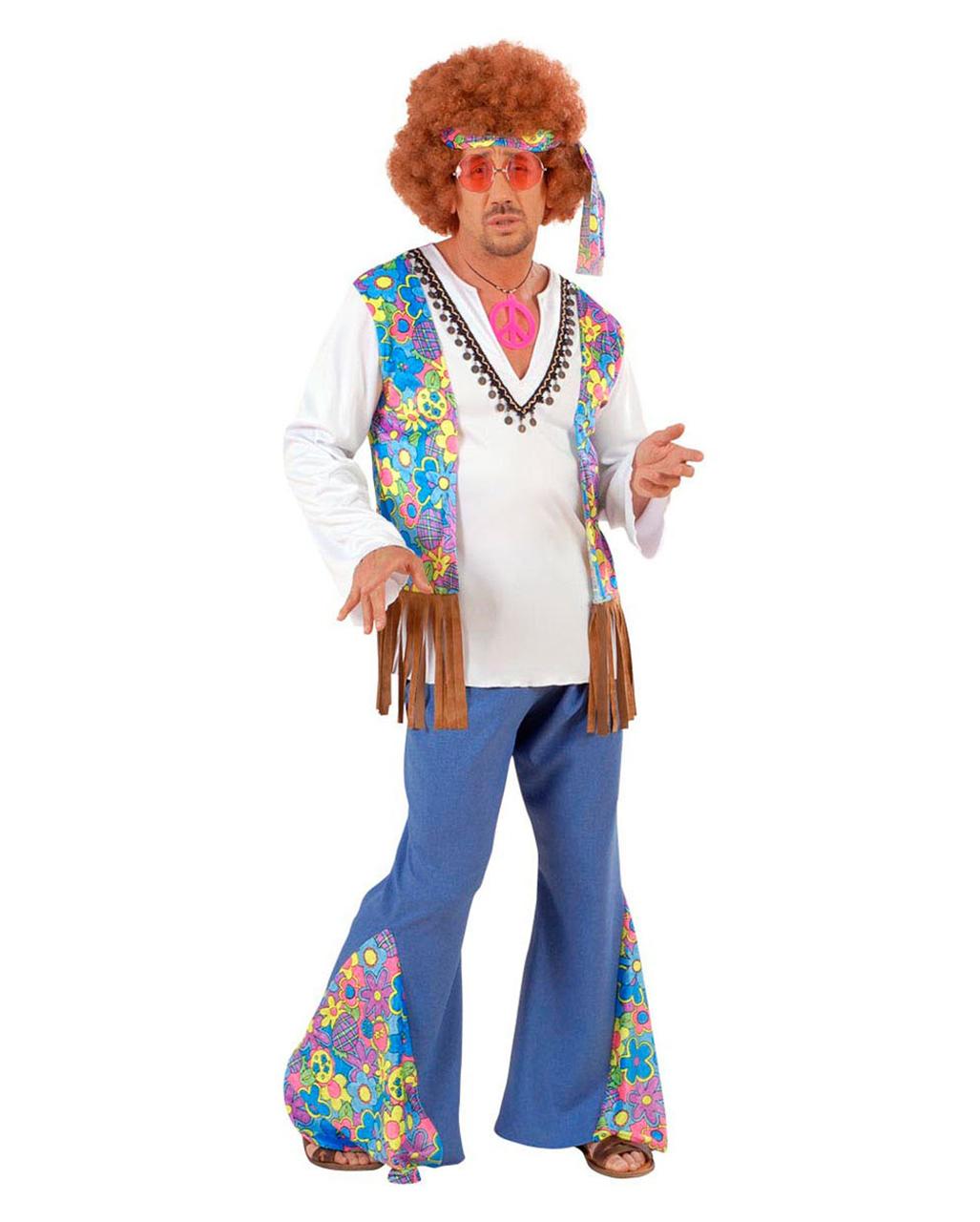 Hippie Afro Perücke Flower Power Karneval Fasching